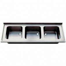 Chiuveta inox 3 cuve - 1800x600 - 1800x700 mm