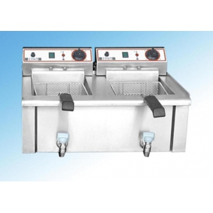 Friteuza electrica de banc - capacitate 2x8 L