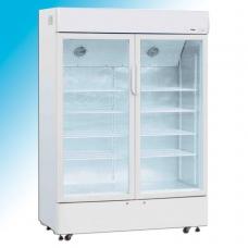 Vitrina frigorifica verticala dubla  pentru lactate si bauturi - refrigerare ventilata