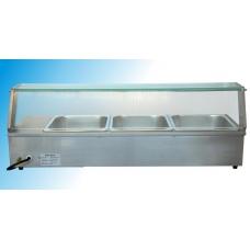 Bain Marie de banc - vitrina calda 1215x365x330 mm