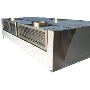 Hota inox de perete cubica cu inductie si compensare dimens. 1500x1200x450 mm